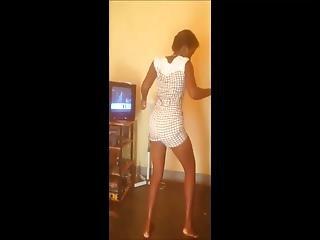 African Ebony Enjoyes Dancing Alot!
