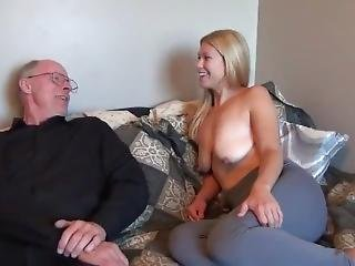 Grandpa With Unreal Big Dick Abuses Teen With Big Saggy Tits
