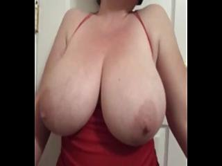 Bbw Lateshay Red Mini Amp Black Stockings 36 G Saggy Tits