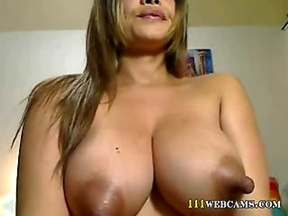 Latina Milf With Boobs With Big Nipples