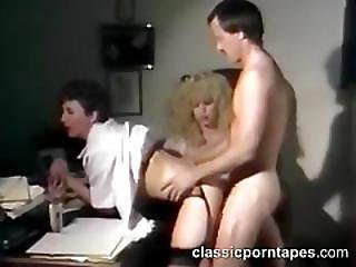 Nasty Mature Boss In Threesome