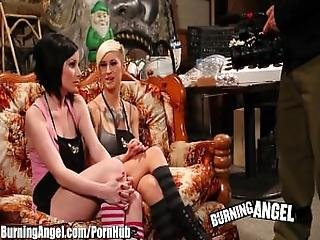 Burning Angel Kleio And Veruca Ass Fucking Threesome Fun