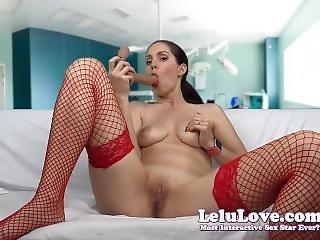 Lelu Love-nurse Dildo Sucking Jerkoff Encouragement