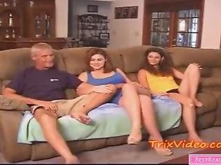 Stepmom And Dad Fuck Their Teen Daughter!