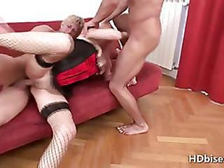 Arse To Mouth Bisexual Threesome