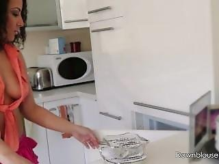 Kitchen Times - Trailer - Frilly Skirt Tanned Exotic Babe In Kitchen