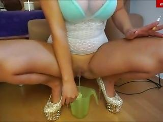 German Milf Smoking Cork And Pissing
