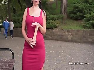 In The Public Park With A Toy