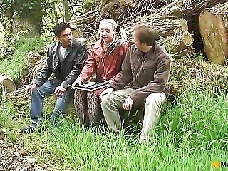 Fetish, Skog, Utomhus, Trekant