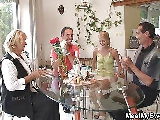 Birthday, Fucking, Mature, Old, Parents, Teen, Threesome, Young