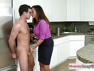 Busty Stepmom Ariella Ferrera Jerking In Trio