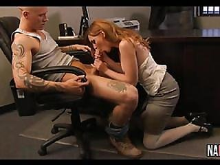 Amateur Redhead Office Fuck Marie Mccray