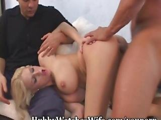 Busty Eve Takes Thick Cock