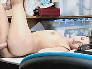 Beautiful Brunette Sucks Cock To Avoid Doing Some Jailtime