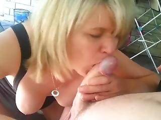 Beautiful Heather Eisenbraun Sucking My Cock Outdoors