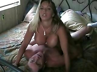 Milf With Large Boobs Fucks In Bedroom