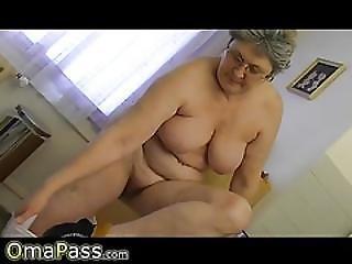Omapass Granny Masturbate With Cucumber In Kitchen