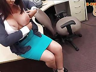 Busty Milf Pawns Her Pussy For The Bail Of Her Poor Husband