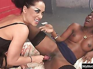 Dark Erotic Vampire Anaya Leon Charms Ebony Temptress Jasmine Webb Into Licking And