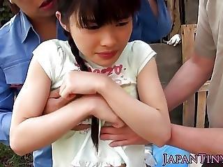 Asiatique, Dans La Tête, Fléxible, Japonaise, Mmf, Ados, Trio