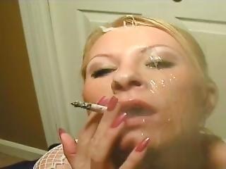 Smoking Blow Job With Cum Gargle