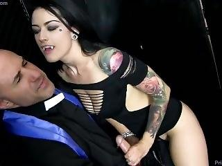 Man Surrenders His Cock To The Wiles Of A Dominant Vampire Girl