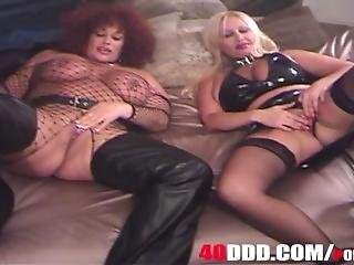 2 Big Tit Blondes And Big Ass Red Head Have Big Smoking Clit For Bbc