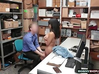 Mall Officer Conducts A Search To Aryana Amatista And Fucks Her Wet Pussy