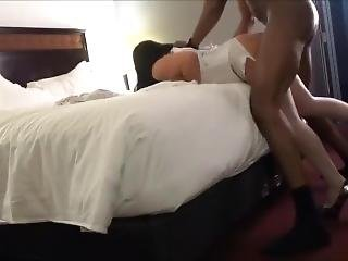 Hotel Milf In Corset Fucks Bbc While Hubby Films, Get Unexpected Creampie
