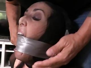 Dixie Comet Gets Bound, Gagged And Hose Hooded
