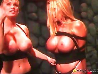 Aunt Tied Her Big Breasts