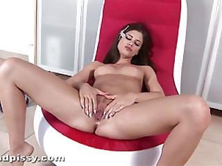 Little Caprice - Piss In Panties And On Chair