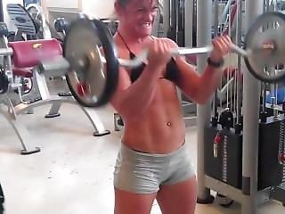 Silvia Working Out In Tiny Bikini Top