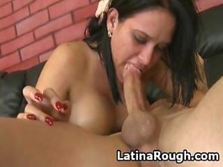 Latina Slut Pukes In A Bowl During Rough Face Fucking