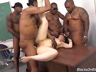 Sexy Teacher With Big Ass Gangbanged By Her Students