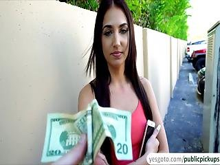 Aubrey Rose Receives Cash And Good Pussy Pounding