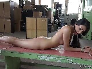Submissive Ashley Ocean Whipped And Ball Gagged