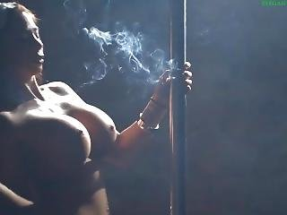 Chloe Lexus Smoking Pole Dance