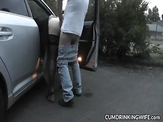 Slutwife Fucked And Creampied By Strangers At Rest Area Car Parks