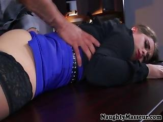 Bunny Freedoms Dirty Office Massage