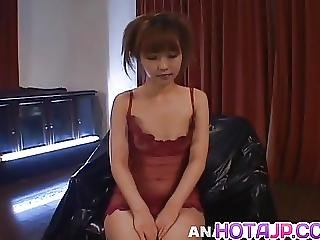 Kokoro Wakana In See Through Lingerie Gets Sex Toys And Cums