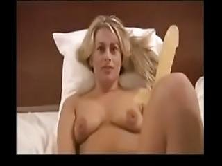 Wife Dildoing Her Clit While Gets Her Ass Fucked