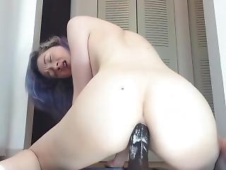 amatør, anal, rompe, dildo, hardcore, onanering, små pupper, solo, Tenåring, Tenåring Anal, leker, stygg
