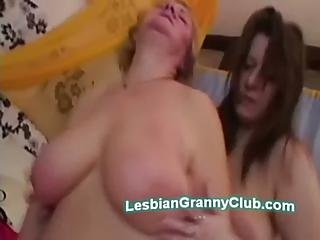 Old Beata Brings Strapon To Please Her Lesbian Granny Lover Evita