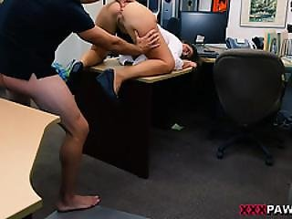 Fucking These Teen With Nice Tits Doggystyle In My Desk