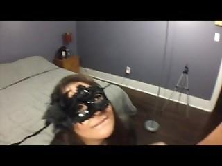 Amateur, Blowjob, Cum, Cum Swallow, Cumshot, Mask, Swallow