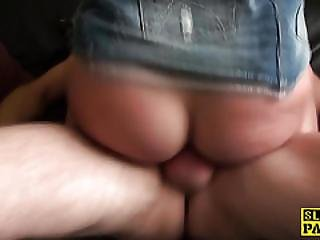 Real British Sub Slammed With Hard Cock