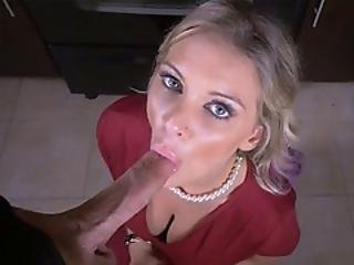Blonde Stepmoms Hands Are Tied And She Is Ready To Suck