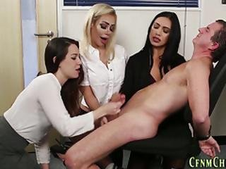 Cfnm Babes Degrade Pervy Boss With Suck