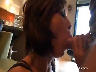 Busty Milf Sucks Cock And Gets Cum Facial